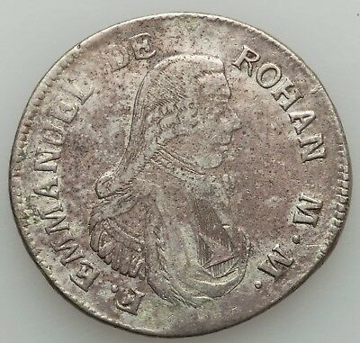 Malta 1796 2 Scudi - VF Cleaned - Emmanuel De Rohan Crown