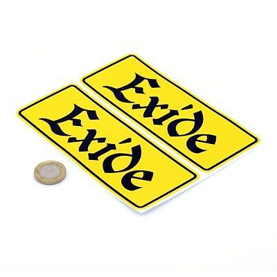 Exide Battery Stickers Old Style Classic Car Racing Vinyl Decals 150mm x2