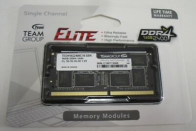 Brand New Team Group TED416G2400C16-SBK 16GB 2400MHz DDR4Notebook SO-DIMM