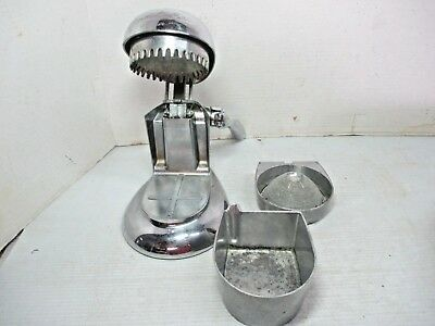 "Vtg. RIVAL Mfg. Co. ""Tilt Top""  JUICE-O-MAT Chrome Manual Citrus Orange Juicer"