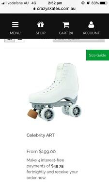 Crazy Celebrity Art Roller Skates Kids UK J11, EUR 29, US J11