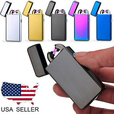 Dual Arc Electric Plasma Flameless Windproof USB Rechargeable Cigarette Lighter