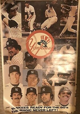 New York Yankees Team 1980's  Poster Original