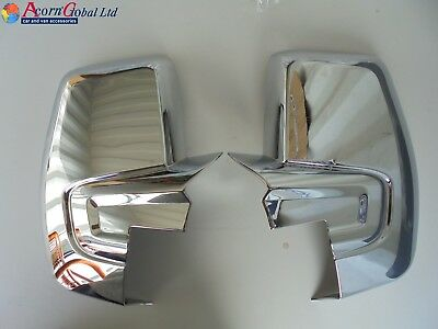 Ford Transit Custom Torneo Chrome Wing Mirror Covers Abs 2012 Onwards 2 Piece