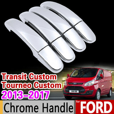 Ford Transit Custom Door Handle Cover 2013+ Set Of 4 Stainless Steel Chrome