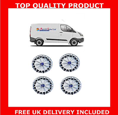"15"" Wheel Trims To Fit Ford Transit Custom Van Set Of 4 2012 - New Shape Hubcaps"