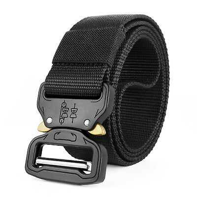 Men's Tactical Rigger's Belt Military Training Heavy Duty Nylon Quick Release