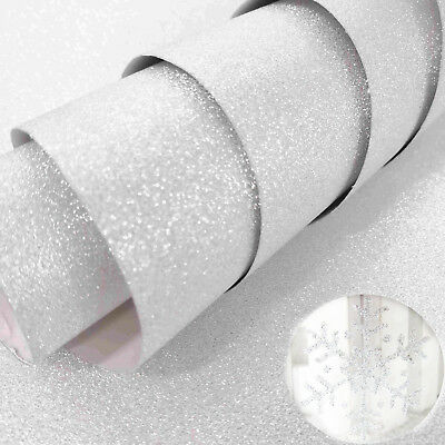 Silver Frosted Glitter Back Sticker Vinyl Self Adhesive Plotter Cutter Decal