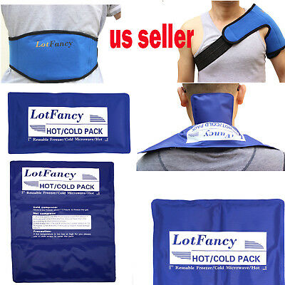 Heat Therapy Wrap Reusable Hot Cold Gel Ice Pack First Aid Kit Back Pain Relief