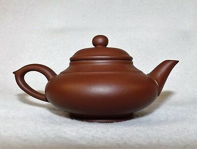 Vintage Miniature Chinese Yixing Zisha Teapot Made & Stamped By Maker Red Clay