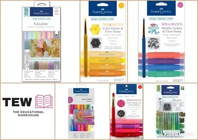 Faber-Castell Gelatos Mix and Match Brights or Metallics Art Crafts Scrapbooking