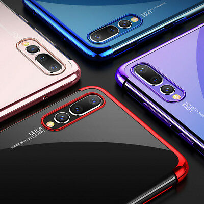 Shockproof Stylish Hybrid Plating Case Silicone Cover For Huawei P20 P30 P Smart
