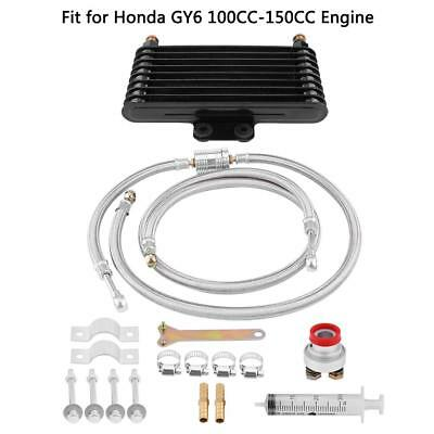 Motorcycle Engine Aluminum Oil Cooler Cooling Radiator For Honda GY6 100CC-150CC