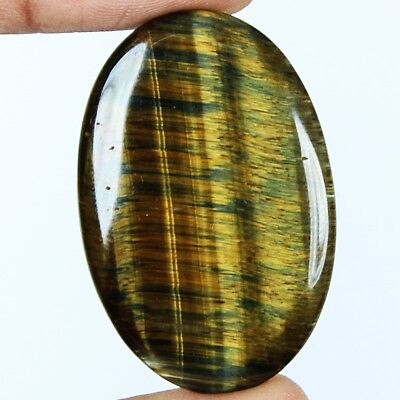 44ct Natural Premium Multi Fire Tiger Eye Oval Cab From South Africa GF23