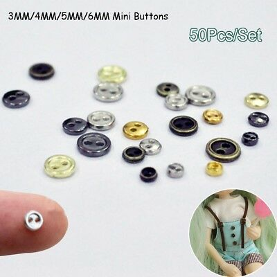 50pcs//lot Mini Micro DIY Doll Buttons for BJD Blyth Doll Clothes Accessories