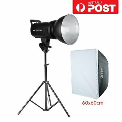 AU Godox SK300II 2.4G 220V 300W Studio Flash Strobe Light+Gift 60*60 Softbox