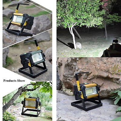 50W 36LED Rechargeable Outdoor Waterproof Portable Floodlight Work Lamp 6000K