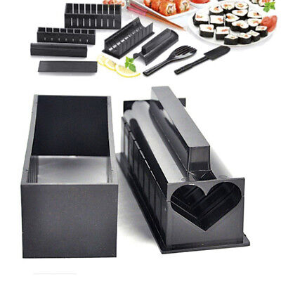 Sushi Maker Kit Rice Roll Mold Kitchen DIY Easy Chef Set Mould Roller CutterMC