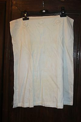 Antique petticoat - Linen - With embroidery to the the top
