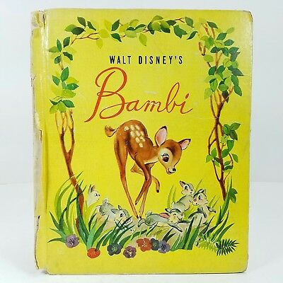 1942 Walt Disney's Bambi Harder To Find Cover Grosset & Dunlap Deer Thumper