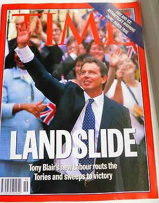 Time magazine May 12 1997 edition: 'Landslide' election victory for Tony Blair