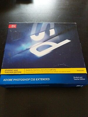 GENUINE ABODE PHOTOSHOP CS5 EXTENDED PC Win 100% Genuine Spares/Repair/Trial