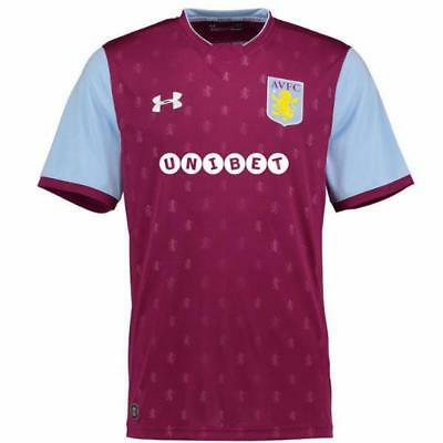 Aston Villa Men's Under Armour UA 2017/18 Home Shirt - Various Sizes - New