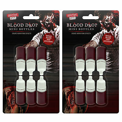 12pk Fake Blood Face Paint Red Vampire Zombie Make Up Realistic Capsules