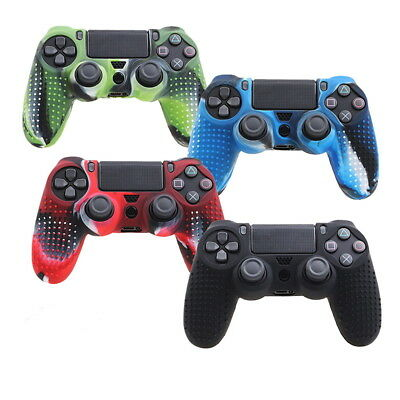 Camouflage Silicone Rubber Skin Grip Cover Case for Play Station4 PS4 Controller