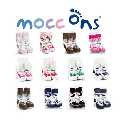 Mocc Ons Baby/Toddler Moccasin Slipper Socks With Leather Soles - 6-12 Months