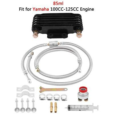 85ml Motorcycle Aluminum Oil Cooler Cooling Radiator Kit For Yamaha 100CC-125CC