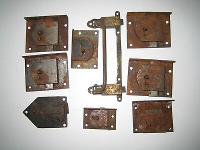 MixedAntique Steel Drawer Locks withBrass and Steel Table Latch.