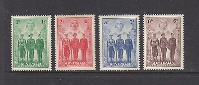 1940 Australian Imperial Forces set of 4 SG 196/8, well centred MUH.