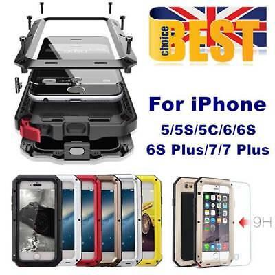 Heavy Duty Armor Shockproof Tough Hybrid Metal Anti Case For iPhone 5 6 7 Plus +