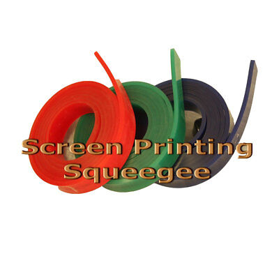 "Green Screen Printing Squeegee Single 50mm x 9mm x12´(144"") Roll 70 Duro"