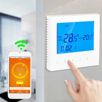 Programmable WiFi Wireless Heating Thermostat Digital LCD Screen App Control
