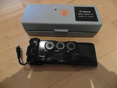Canon Data Back A w/Case MADE IN JAPAN