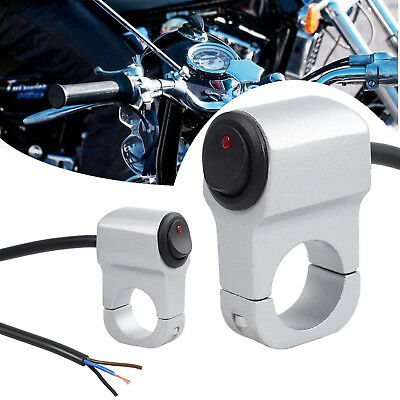 Motorcycle ATV Waterproof Handlebar Headlight Fog Spot light On Off Switch 12V