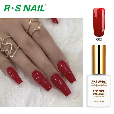 RS Nail Gel Nail Polish LED UV Hybrid Gel Colour Red 003