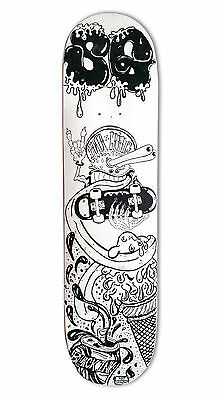 "skateboard by @matdisseny - skate art on a new deck ""The critter"""