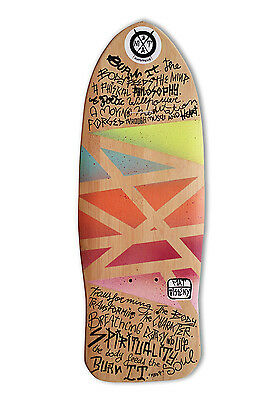 "skateboard by @matdisseny - skate art recycled deck ""Burn it"" (Mike V Tribute)"