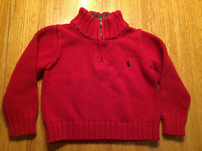 Polo Ralph Lauren Boys 1/4 Zip Pullover Sweater   Size 2/2T
