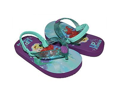 5e188a762cb5d DISNEY PRINCESS TODDLER Girls Purple Ariel Thong Flip Flops Size 7 8 ...