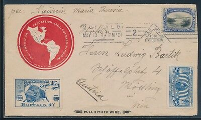 #297 5c PAN-AMERICAN EXPO COVER TO AUSTRIA MAY 13, 1901 BU4765