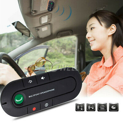 Universal Wireless Bluetooth Car Kit Handsfree Speaker Phone Visor For Phone MP3