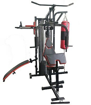 F4H Home Gym Multi Work Out Sit Up Bench Push Up Weight Stack Body Building Tone