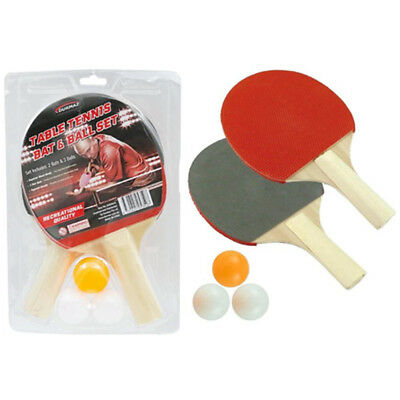 1 Pair Professional Table Tennis Ping Pong Racket Bat Paddle with 3xBalls