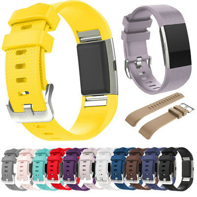 New Sports Silicone Watch Wrist Band Strap For Fitbit Charge 2 / Charge 2 HR