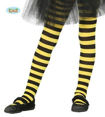 Childrens Yellow And Black Bee Striped Tights