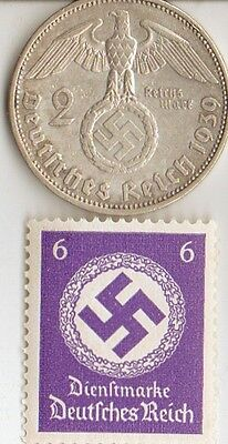 -*smal  LOT of  WW2 - *US  and  *german  coins / STAMPS+..